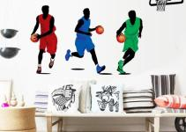 Basketball Player Sport Removable Wall Art Decal Pvc