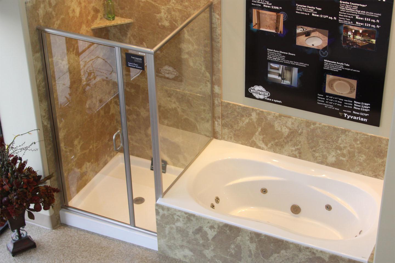 bathroom amazing corner bathtub shower combo tub