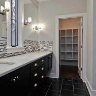 Bathroom Backsplash Ideas White Wall Black