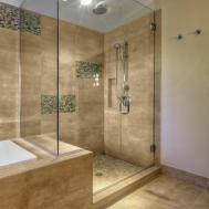 Bathroom Cozy Soaking Tubs Wood Flooring