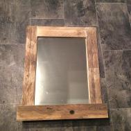 Bathroom Mirror Made Reclaimed Pallet Wood