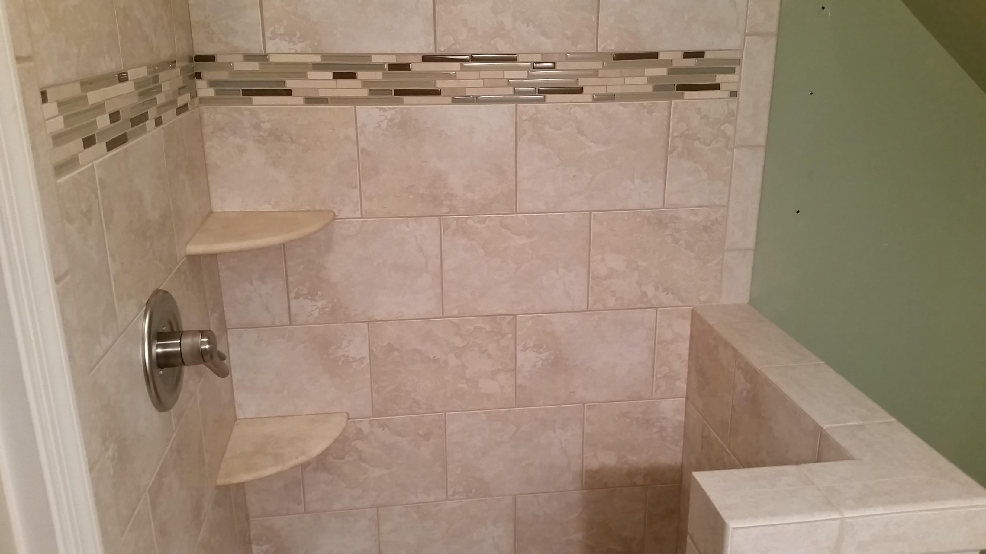 bathroom simple design mosaic glass