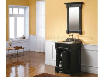 Bathroom Small Black Vanity Brown Wooden