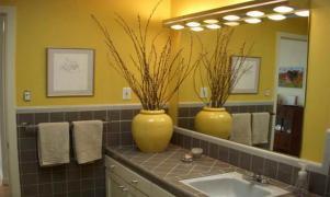 Bathrooms Smart Yellow Gray Bathroom Also Purple