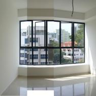 Bay Window Apartment Black Frame Idea