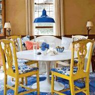 Beautiful Classic Dining Room Rustic Yellow Wood