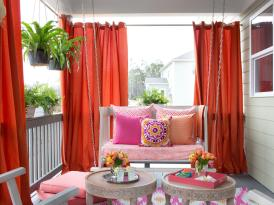Beautiful Mid Century Modern Drapes Chic Living Room Ideas