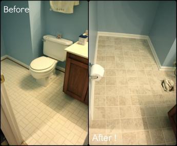Beautiful Paint Bathroom Tile Floor Home