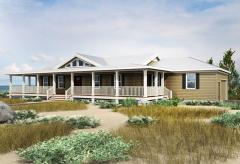 Bed Coastal Dune Ranch Home Plan Gf 1st Floor