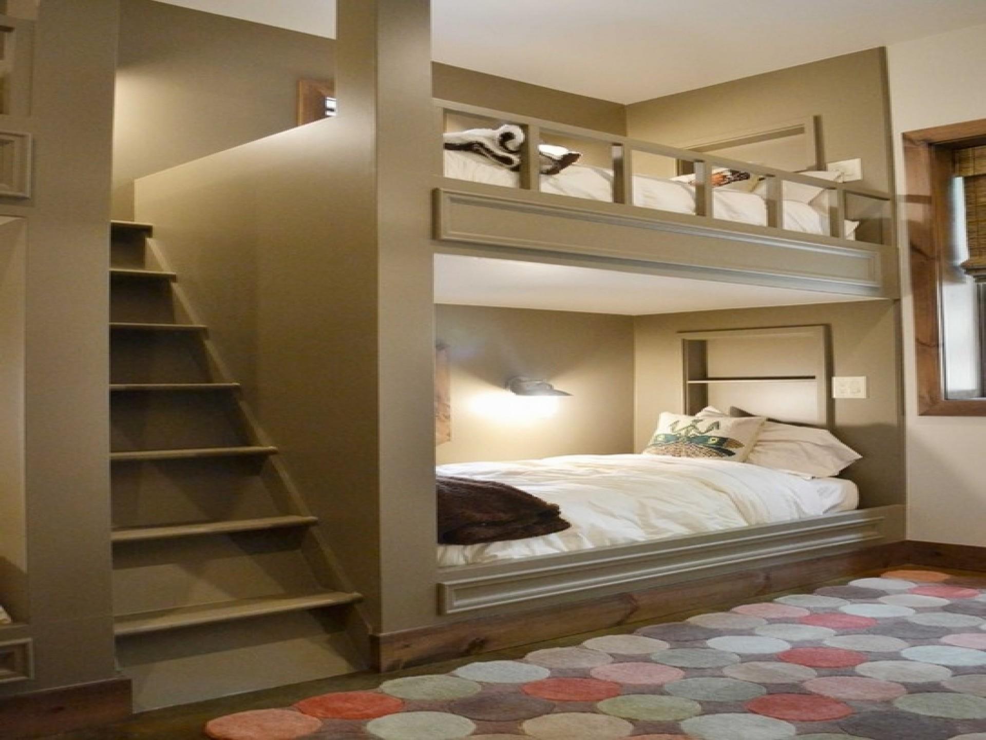 Bedroom Bunk Beds Stairs Desk Girls Window Decoratorist 78143