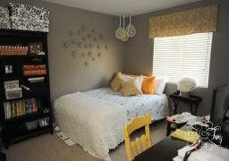 Bedroom Modern Gray Yellow Decor Ideas