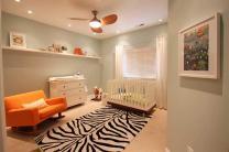Bedroom Vintage Modern Interior Nursery Room Design