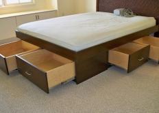 Beds Storage Underneath Headboard Interior