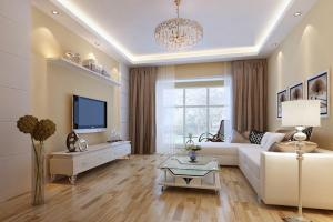 Beige Walls Elegant Living Room Interior Design
