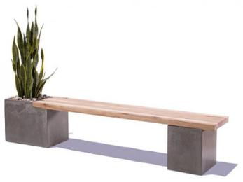 Benches Stools Concrete Wood Table Top Modern