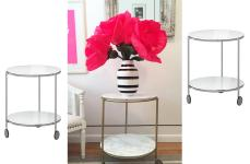 Best Hack Strind Side Table Marble Brass