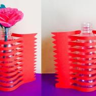 Best Out Waste Newspaper Flower Vase Making Arts