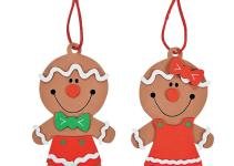 Big Head Gingerbread Christmas Ornament Craft Kit
