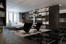 Black Marble Floor Interior Design Ideas