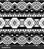 Black White Color Tribal Navajo Seamless Pattern Aztec