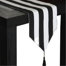 Black White Striped Tablecloth 2766