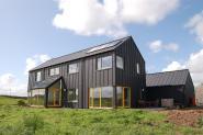 Black Zinc Low Energy Building House Design Home