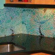Bliss Glass Tile Norwegian Ice Backsplash Wall Laundry