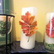 Blissfully Blessed Simple Fall Candle Diy