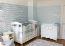 Blue Nursery Boy Four Walls Roof