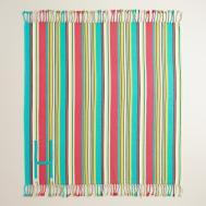 Blue Stripe Picnic Blanket World Market