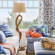 Blue White Beach House Decorating Coastal Living