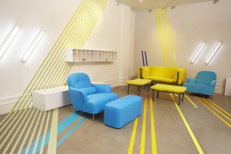 Blue Yellow Interior Design