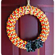 Blushing Bee Halloween Wreath Diy Craft