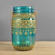 Bohemian Wedding Hanging Lantern Reception Decor Mason Jar