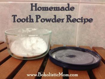 Boholistic Mom Homemade Tooth Powder
