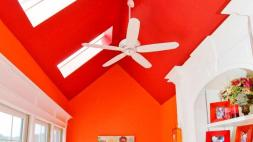 Bold Ceiling Colors Add Eyeful Interest