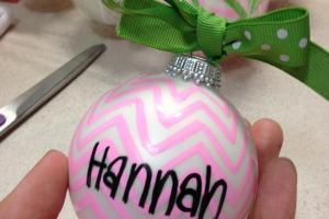Bows Pearls Sorority Girls Diy Ornaments