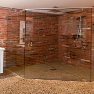 Brick Bathroom Shower Wall Thin