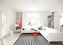 Broad Stripe Living Room Home Decorating Ideas