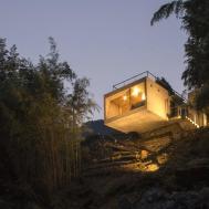 Brutalist Minimalist Cabin Designed Masato Sekiya