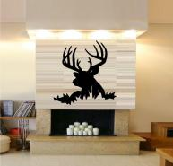 Buck Deer Head Wall Decal Silhouette