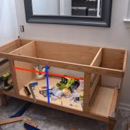 Building Diy Bathroom Vanity Part Making Cabinet Doors