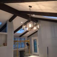 Building New Home Exposed Beams Faux Wood Workshop