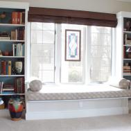 Built Shelves Around Window