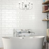 Bulevar Ripple Antique White Wall Tiles Bathroom