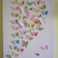 Butterfly Wall Art Nursery Children Teen