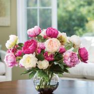 Buy Customer Favorite Deluxe Peony Silk Flower Centerpiece