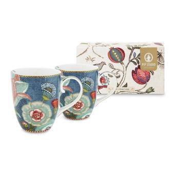 Buy Pip Studio Spring Life Mugs Blue Set Amara