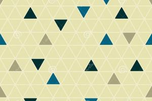 Calm Geometric Rounded Triangles Seamless