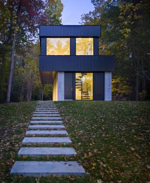 Cantilever Lake House Birdseye Design